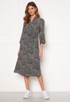 Object Collectors Item Lorena 3/4 Shirt Dress Sandshell AOP Black Bubbleroom.fi