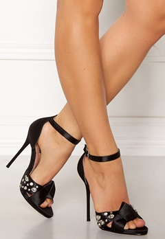 LOST INK Leo Strap Heeled Sandal Black Bubbleroom.fi