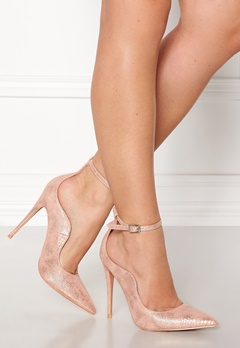 LOST INK Palm Curved Ankle Strap Rose Gold Bubbleroom.fi