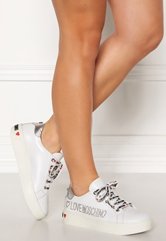 Love Moschino Moschino Leather Sneakers White Bubbleroom.fi