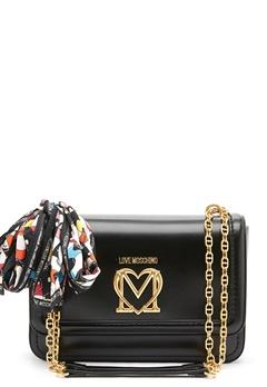 Love Moschino New Love Moschino Scarf Bag 000 black Bubbleroom.fi