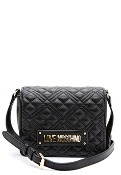 Love Moschino New Shiny Quilted Bag 000 Black Bubbleroom.fi