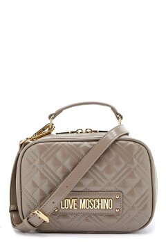 Love Moschino New Shiny Quilted Bag 001 Grey Bubbleroom.fi