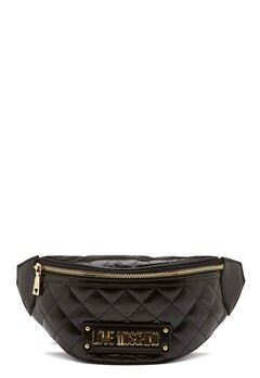 Love Moschino New Shiny Quilted Bag Black Bubbleroom.fi