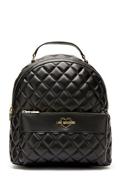 Love Moschino Quilted Backpack Black/Gold Bubbleroom.fi