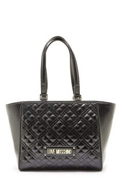 Love Moschino Quilted Bag Black Bubbleroom.fi