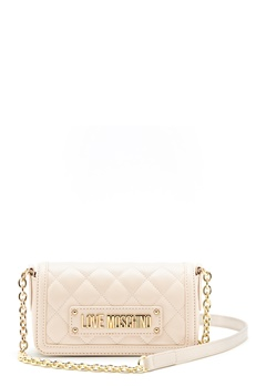 Love Moschino Quilted Chain Bag Ivory Bubbleroom.fi