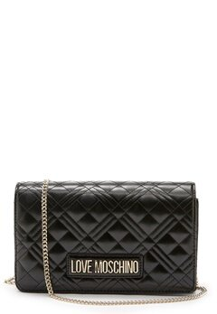 Love Moschino Quilted Evening Bag Black Bubbleroom.fi