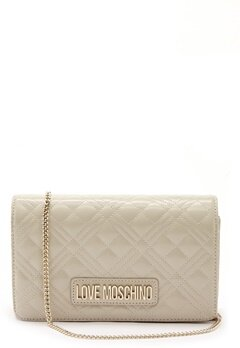 Love Moschino Quilted Evening Bag Ivory Bubbleroom.fi