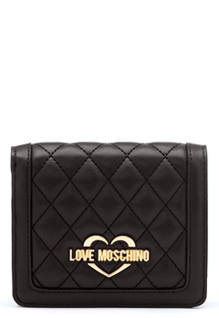 Love Moschino Quilted Wallet Black/Gold Bubbleroom.fi