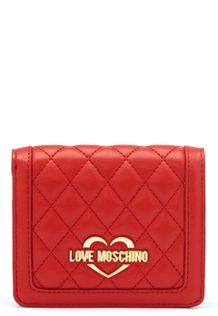 Love Moschino Quilted Wallet Red Bubbleroom.fi
