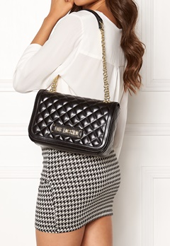 Love Moschino Shiny Quilted Bag Black Bubbleroom.fi