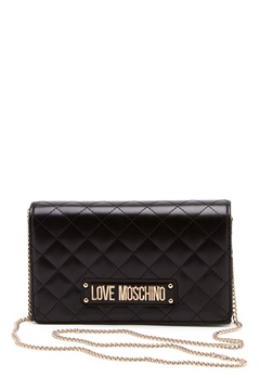 Love Moschino Small Quilted Chain Bag Black Bubbleroom.fi