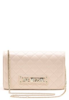 Love Moschino Small Quilted Chain Bag Ivory Bubbleroom.fi