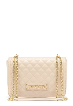 Love Moschino Small Quilted Handbag Ivory Bubbleroom.fi