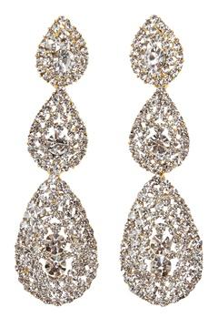Love Rocks Byzanine Pave Earring Gold Bubbleroom.fi