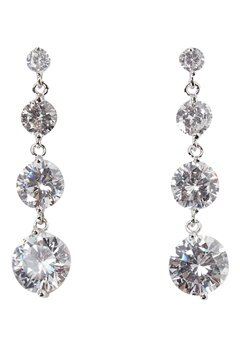 Love Rocks CZ Drop Earrings Silver Bubbleroom.fi