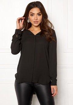 VILA Lucy L/S Shirt Black Bubbleroom.fi