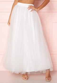 Y.A.S Lucy Maxi Skirt Star White Bubbleroom.fi