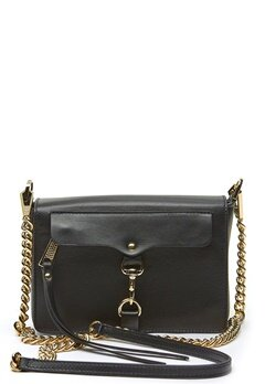Rebecca Minkoff Mab Flap Crossbody Bag 001 Black/Light Gold Bubbleroom.fi