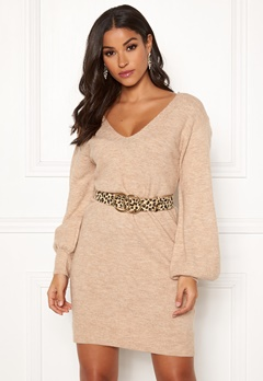 Make Way Alma knitted dress Beige Bubbleroom.fi