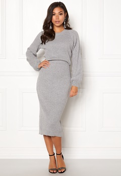 Make Way Amira knitted dress Grey melange Bubbleroom.fi