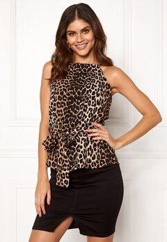 Make Way Bessie tie top Leopard Bubbleroom.fi