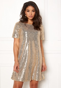 Make Way Blair sequins dress Gold Bubbleroom.fi