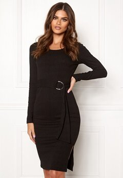 Make Way Camille belted dress Black Bubbleroom.fi
