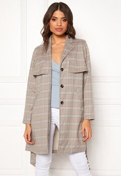 Make Way Cassidy Coat Beige / Checked Bubbleroom.fi