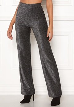 Make Way Dila sparkling trousers Black Bubbleroom.fi