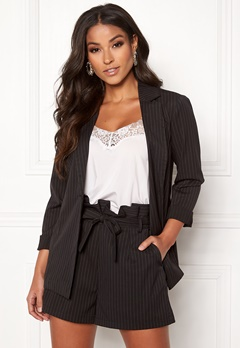 Make Way Disa soft blazer Black / Striped Bubbleroom.fi