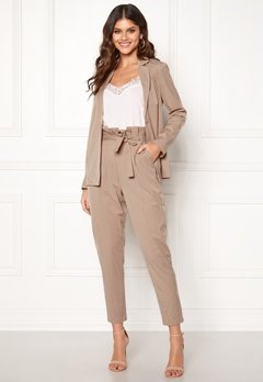 Make Way Disa trousers Beige / Striped Bubbleroom.fi
