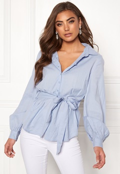 Make Way Donna blouse Light blue Bubbleroom.fi