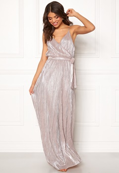 Make Way Elsa pleated lurex dress Pink / Silver Bubbleroom.fi