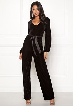 Make Way Farah velvet jumpsuit Black Bubbleroom.fi