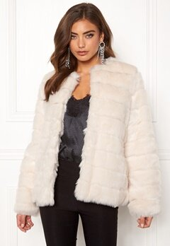 Make Way Freia faux fur jacket Cream Bubbleroom.fi