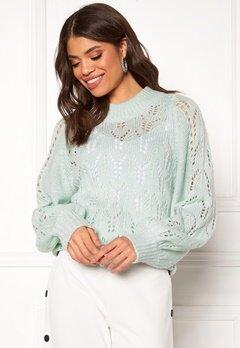 Make Way Jade knitted sweater Light mint Bubbleroom.fi