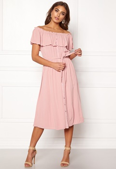 Make Way Jaqline offshoulder dress Light pink Bubbleroom.fi