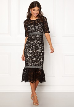 Make Way Jessenia dress Black / Beige Bubbleroom.fi
