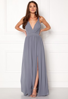 Make Way Jonna Maxi Dress Dusty blue Bubbleroom.fi