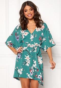 Make Way Karmen kimono dress Green / Floral Bubbleroom.fi