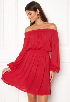 Make Way Krista offshoulder dress Red Bubbleroom.fi