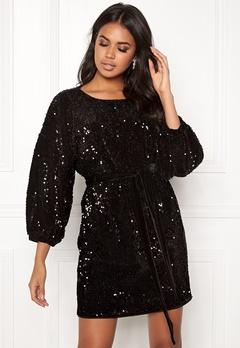 Make Way Lettie sequin dress Black Bubbleroom.fi