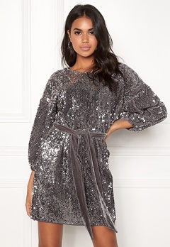 Make Way Lettie sequin dress Grey Bubbleroom.fi