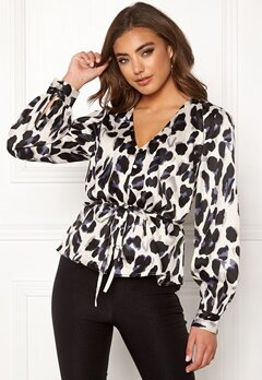 Make Way Miriam blouse Black / Leopard Bubbleroom.fi