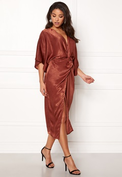 Make Way Nikki kimono dress Rust Bubbleroom.fi