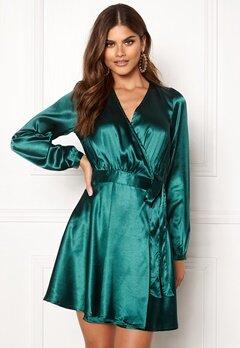Make Way Ophelia wrapped dress Dark green Bubbleroom.fi