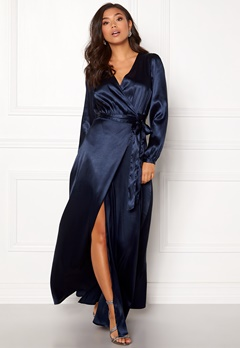 Make Way Ophelia wrapped maxi dress Dark blue Bubbleroom.fi