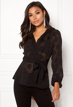 Make Way Parthenia blouse Black Bubbleroom.fi